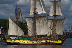 Old masted sailing ship Royalty Free Stock Photos