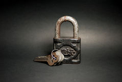 Old Master Key. Even it's very old but still can use. Object royalty free stock photography