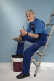 Old master plasterer of mystery Royalty Free Stock Photo