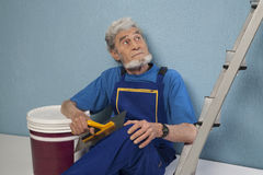 Old master plasterer of mystery Stock Photography