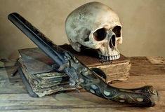 Old master skull Royalty Free Stock Image