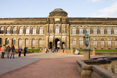The Old Masters Picture Gallery in Dresden, Germany Stock Images