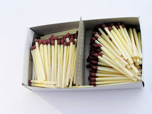 Old Match Box. Matches in a box Stock Image