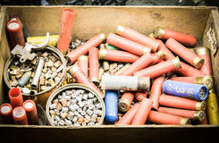 Old material to reload ammunition Stock Image