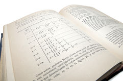 Old math book Royalty Free Stock Photos