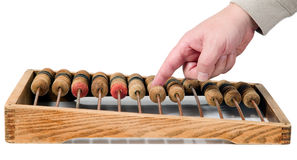Old mathematical calculator abacus Royalty Free Stock Photos