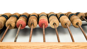 Old mathematical calculator abacus Stock Photography