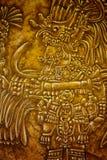 Old Mayan Art. Mayan Riviera, Mexico Royalty Free Stock Images
