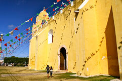Old Mayan Church Stock Photos