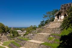 Old Mayan piramide, Palenque, Mexico Royalty Free Stock Photos