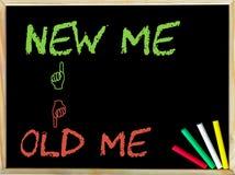 Old Me versus New Me Stock Photo