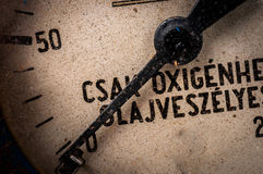 An old measurement device closeup Royalty Free Stock Image
