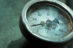 Old measurement meter Stock Image