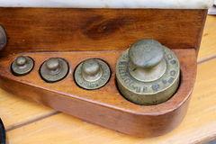 Old measures of weights Stock Images