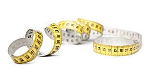 Old measuring tape Stock Photography