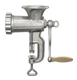 Old meat grinder isolated on white background Stock Photo