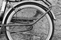 Old mechanic bicycle detail Royalty Free Stock Images