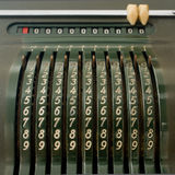 Old mechanical calculator Stock Images