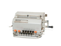 Old mechanical calculator Royalty Free Stock Photos