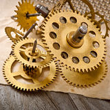 Old mechanical clock gear Royalty Free Stock Photography