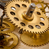 Old mechanical clock gear Royalty Free Stock Photos