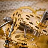 Old mechanical clock gear Royalty Free Stock Images