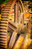 Old mechanical gears Stock Image