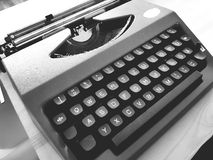 Old Mechanical Typewriter. In black and white Stock Images
