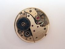 Old Mechanical Watch Movement Royalty Free Stock Photo
