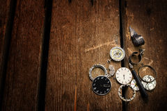 The old mechanical wrist watch Royalty Free Stock Image