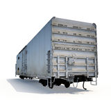 Old mechanically refrigerated wagon on white. 3D illustration Royalty Free Stock Image