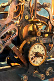 Old mechanism of a big tower clock Stock Images