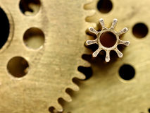 Old mechanism with gears Royalty Free Stock Photography