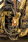 Old mechanism part of the combine Royalty Free Stock Photography