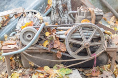 Old mechanism. Stands along time royalty free stock images