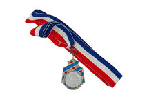 Old medal isolated Royalty Free Stock Image