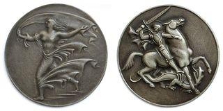 Old medallions Royalty Free Stock Images