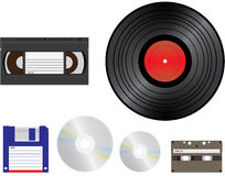 Old media. For recording / playback - illustration Royalty Free Stock Photos