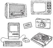 Old media equipment Stock Photo