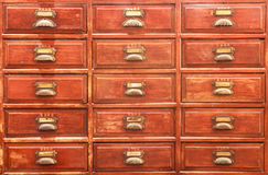 Old medical drawer. Stock Photos