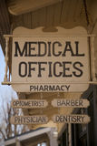 Old Medican Offices Sign Royalty Free Stock Images