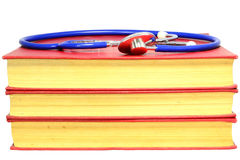 Old Medicine Books. And Stethoscope For An University Exam Royalty Free Stock Photography