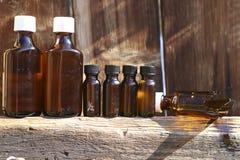 Old medicine bottles Stock Images