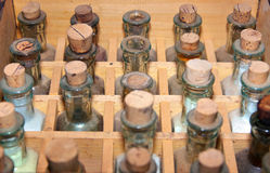 Old medicine bottles Royalty Free Stock Photo