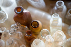 Old medicine bottles Stock Photos