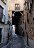 Old medieval alley at Toledo, Spain Stock Photos