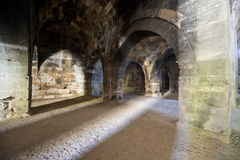 Old Medieval Ancient Castle Stone Dungeon stock photography