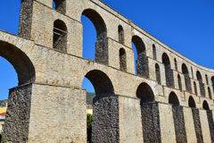 Old medieval aqueduct Kamares, Kavala, Greece Royalty Free Stock Photography