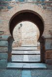 Old medieval Arabic oriental style arch gate entrance to the Old Stock Images