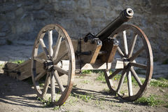 Old medieval artillery canon Royalty Free Stock Photography
